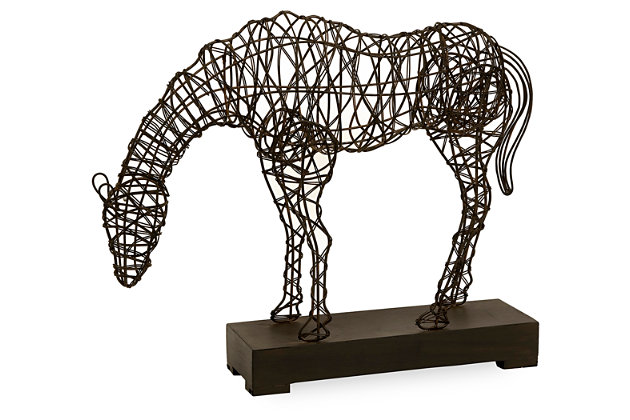 Home Accents Anatole Woven Horse Statuary by Ashley HomeStore, Black