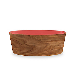 "TarHong Olive Pet Bowl, Medium, Sienna, 6"" x 2.2""/ 3 Cups, Melamine, Set of 2, Brown/Sienna, large"