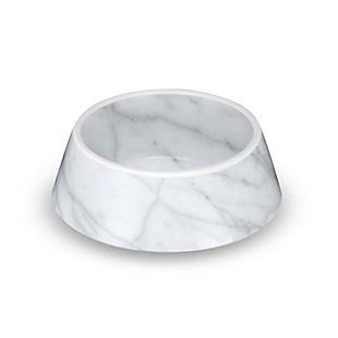 "TarHong Carrara Marble Pet Bowl, Medium, 7.8"" x 2.5""/ 3 Cups, Melamine, Set of 2, , large"