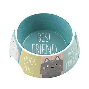 "TarHong Best Friends Forever Pet Bowl, Medium, 7.1 x 2.8""/ 2.5 Cups, Melamine, Set of 2, , large"