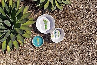 """TarHong Cactus Pet Bowl, Medium , 6.7"""" x 2.3""""/ 4 Cups, Melamine, Set of 2, Multi, rollover"""