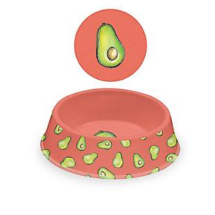 "TarHong Fun Food Avocado Pet Bowl, Medium, 9"" x 2.4""/ 4 Cups, Melamine, Set of 2, Orange, large"