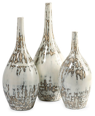 Home Accents Hampton Mexican Pottery Vases (Set of 3), , rollover