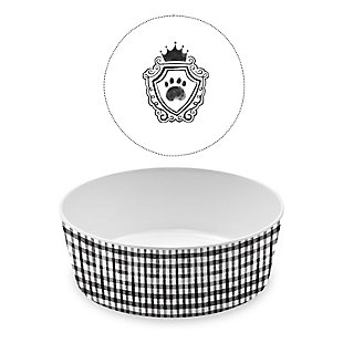 "TarHong Couture Pet Bowl, Large, 7"" x 2.5""/ 5 Cups, Melamine, Set of 2, , large"