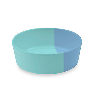 "TarHong Dual Pet Bowl, Small, Blue, 5"" x 1.7""/ 1.5 Cups, Melamine, Set of 2, Blue, large"
