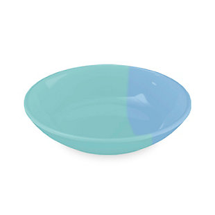 "TarHong Dual Pet Saucer, Blue, 5.2""/ 0.75 Cup, Melamine, Set of 2, Blue, large"
