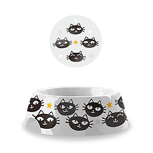 "TarHong Matt The Cat Pet Bowl, Small, 5.3"" x 1.9""/ 1 Cup, Melamine, Set of 2, , large"