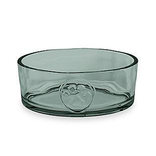 """TarHong Paw Pet Bowl, Medium, Avio Momento Green, 6.1"""" x 2.2""""/ 4 Cups, Acrylic, Set of 2, , large"""