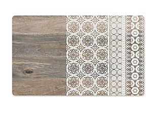 "TarHong Mororccan Wood Pet Placemat, 11.5"" x 19"", PVC + EVA Foam, Set of 2, , large"