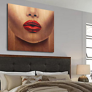 """Red Lips 30"""" x 30"""" Reverse Printed Acrylic, , rollover"""