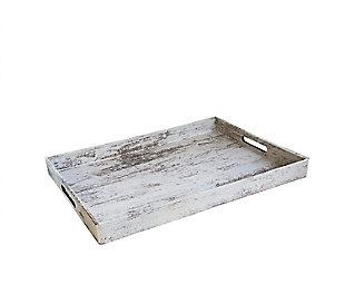 Wood Finish Rectangle Tray, , large