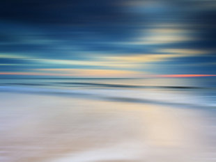 "Morning Beach 32"" x 48"" Reverse Printed Acrylic, , large"