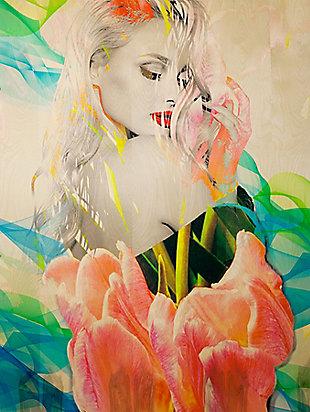 "Blossom 32"" x 48"" Reverse Printed Acrylic, , large"