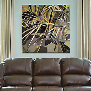 """Dim Palm Leaves 38"""" x 38"""" Giclee on Canvas, , rollover"""