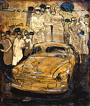 """Golden Cab 38"""" x 54"""" Giclee on Canvas, , large"""