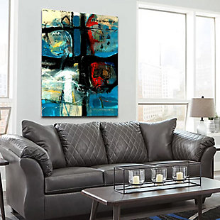 """Emotional Abstract 38"""" x 54"""" Blue Giclee on Canvas, , rollover"""