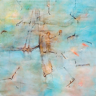 """Light Blue Dream 38"""" x 38"""" Giclee on Canvas, , large"""
