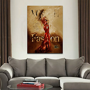 """Long Red Dress 30"""" x 40"""" Giclee on Canvas, , rollover"""