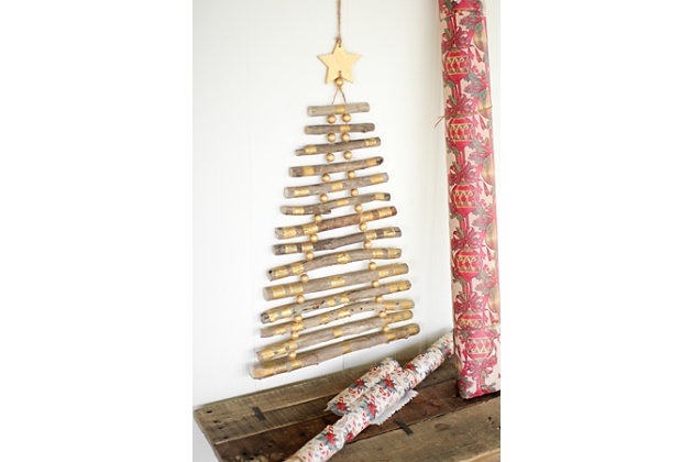 Black Home Accents Hanging Twig Tree With Gold Color Details by Ashley HomeStore