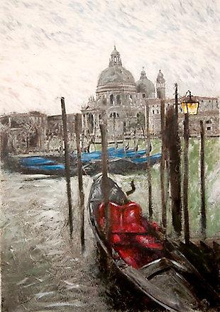 "Venice Dock 38"" x 54"" Giclee on Canvas, , large"