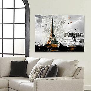 "Eiffel Tower 32"" x 48"" Reverse Printed Acrylic, , rollover"