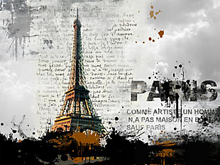 "Eiffel Tower 32"" x 48"" Reverse Printed Acrylic, , large"