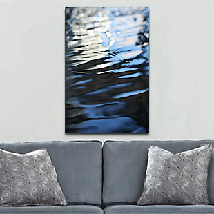 "Dark Blue Ripples 32"" x 48"" Reverse Printed Acrylic, , rollover"