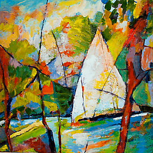"""Sailboat in the Forest 38"""" x 38"""" Giclee on Canvas, , large"""