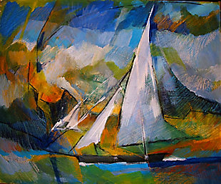 """Sailing the Sea 30"""" x 40"""" Giclee on Canvas, , large"""