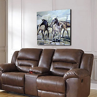 """Herd of Horses 30"""" x 30"""" Giclee on Canvas, , rollover"""