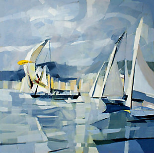 """Windy Sailing 30"""" x 30"""" Giclee on Canvas, , large"""