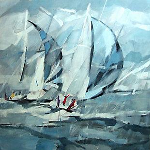 """Rainy Sailing 30"""" x 30"""" Giclee on Canvas, , large"""