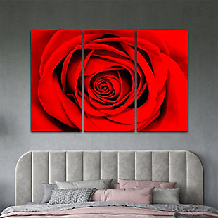 """Red Rose 48"""" x 72"""" Reverse Printed Acrylic (3 Piece Set), , rollover"""