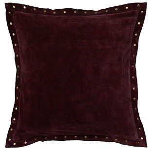 Home Accents Studded Velvet Decorative Throw Pillow, , large