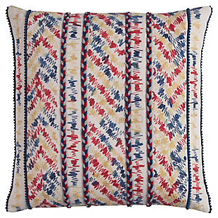 Home Accents Threaded Chevron Stripe Decorative Throw Pillow, , large