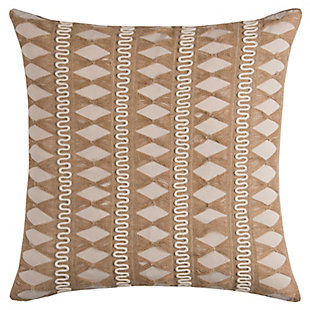 Home Accents Geometric Stripe Jute Decorative Throw Pillow, , large