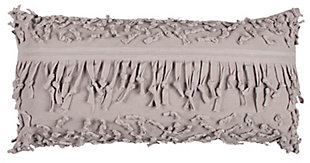 Home Accents Textured Fringe Decorative Throw Pillow, , large