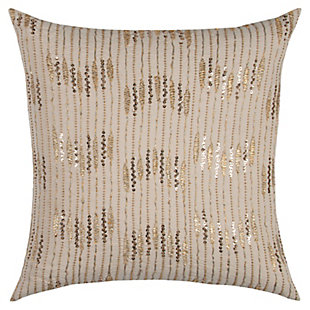 Home Accents Geometric Sequin Stripe Decorative Throw Pillow, , large
