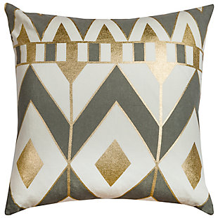 Home Accents Geometric Chevron Decorative Throw Pillow, Gray, rollover