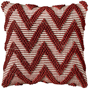 Home Accents Chevron Textured Decorative Throw Pillow, , rollover