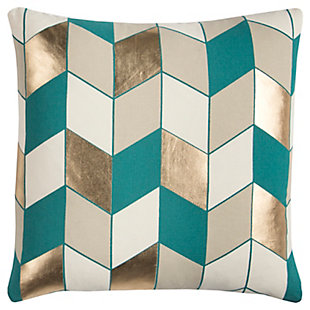 Home Accents Geometric Foil Printed Decorative Throw Pillow, , large