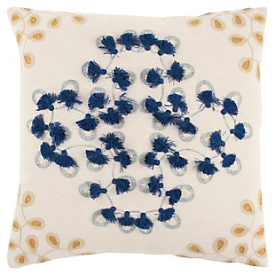 Home Accents Floral Tassels Decorative Throw Pillow, , large