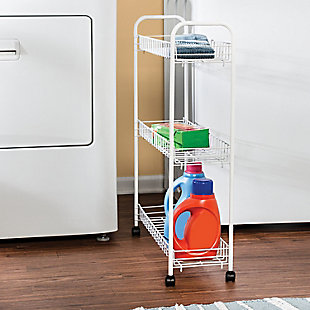 Honey-Can-Do Three Tier Rolling Household Cart, , rollover