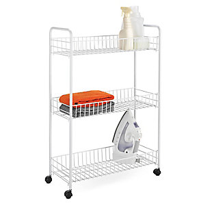 Honey-Can-Do Three Tier Rolling Household Cart, , large