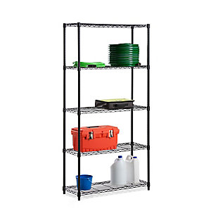 Honey-Can-Do Five Tier Adjustable Shelving Unit, , large