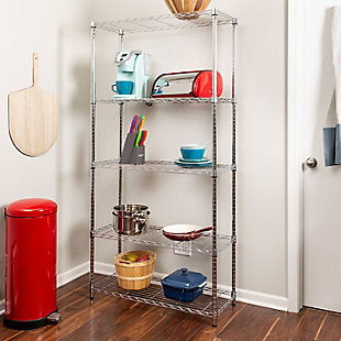 Honey-Can-Do Five Tier Shelving Unit, , rollover