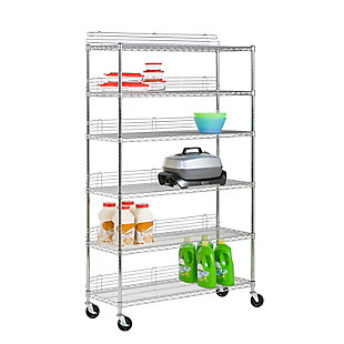 Honey-Can-Do Six Tier Urban Shelving Unit, , large