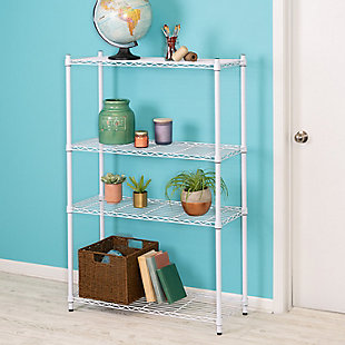 Honey-Can-Do Four Tier Heavy Duty Adjustable Shelving Unit, , rollover