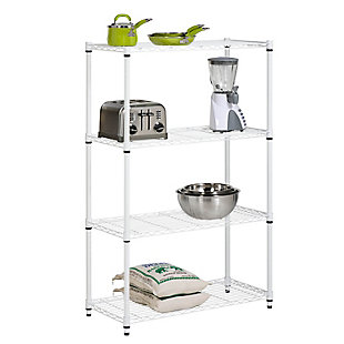 Honey-Can-Do Four Tier Heavy Duty Adjustable Shelving Unit, , large