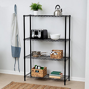 Honey-Can-Do Four Tier Adjustable Shelving Unit, , rollover